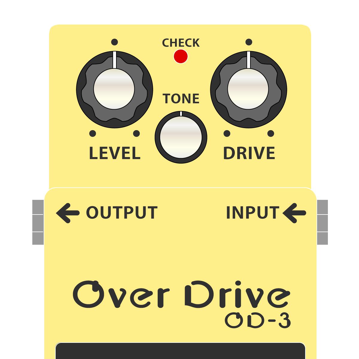 BOSS OD-3 OverDrive オーバードライブイラスト