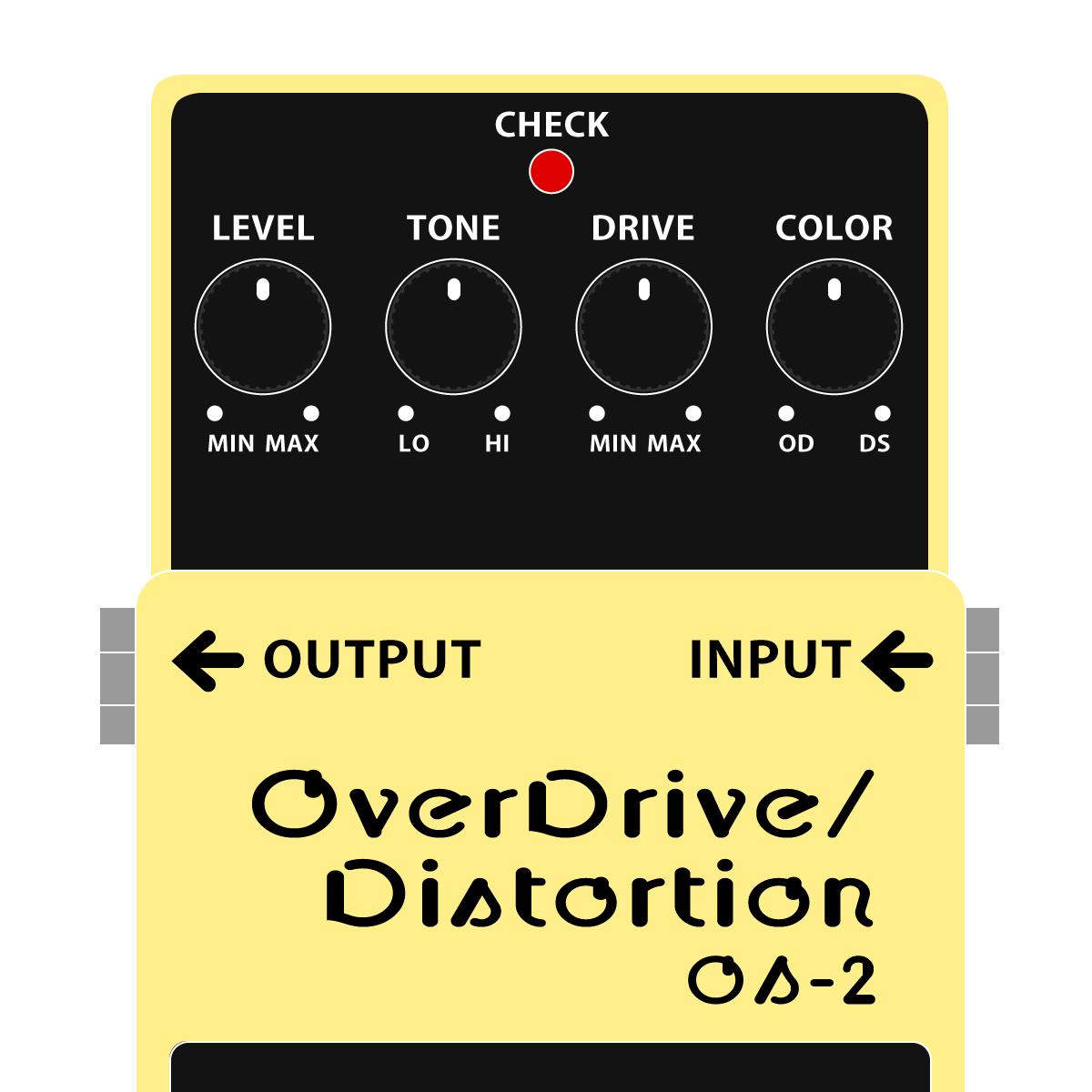BOSS OS-2 Overdrive Distortion オーバードライブディストーションイラスト