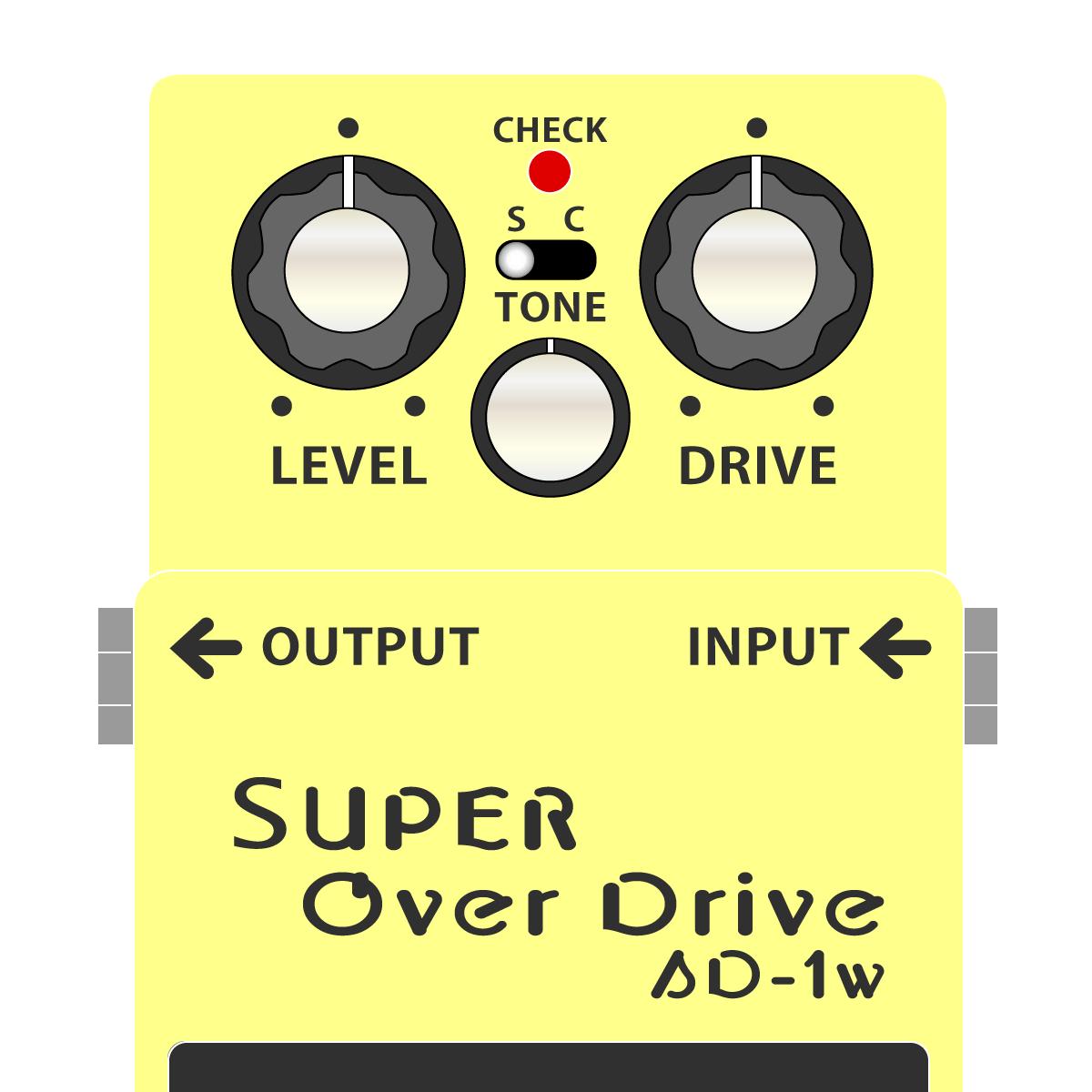 SD-1W SUPER Overdrive WAZA CRAFT(スーパーオーバードライブ・技クラフト)
