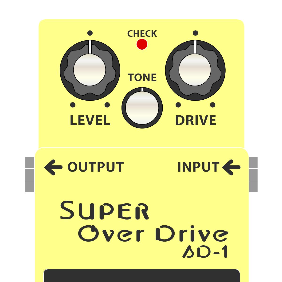 BOSS SD-1 SUPER OverDrive スーパーオーバードライブイラスト