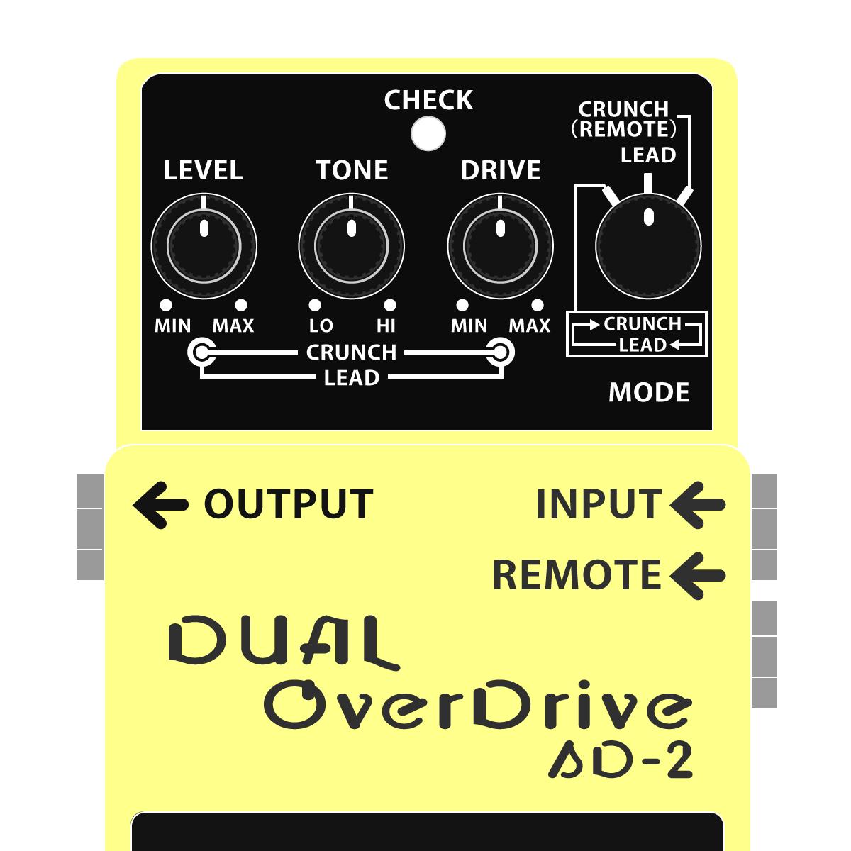 SD-2 DUAL OverDrive(デュアルオーバードライブ)