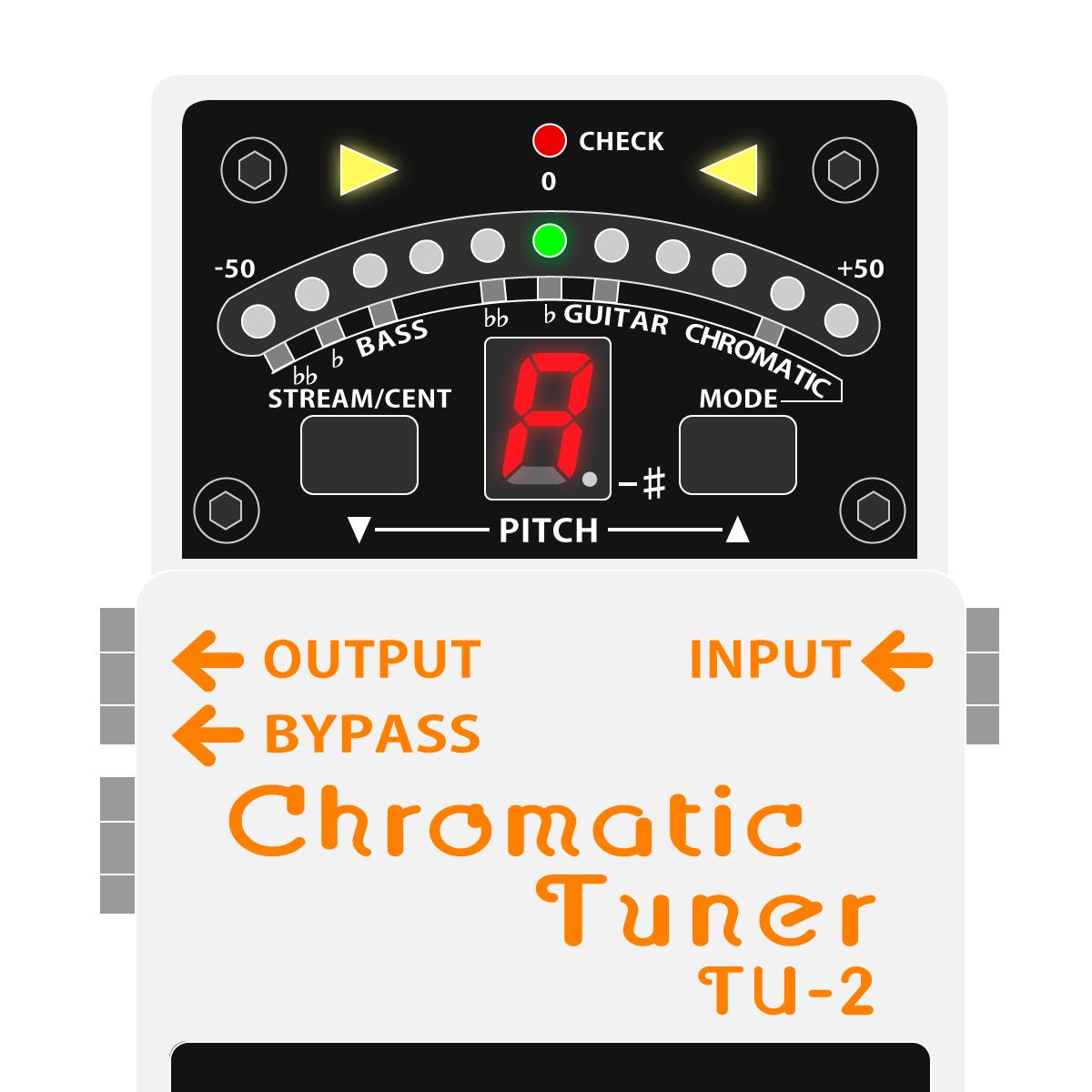 TU-2 Chromatic Tuner(ペダルチューナー)